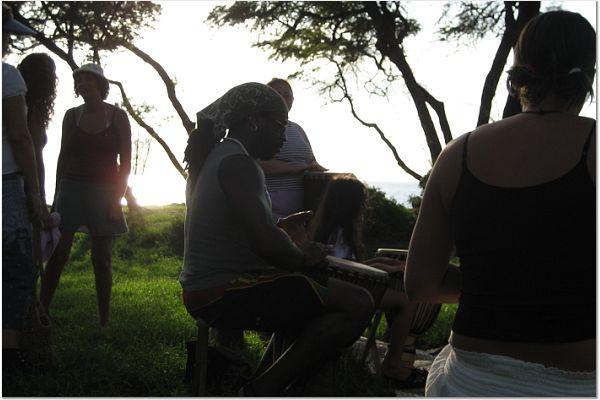 Drumming inMaui